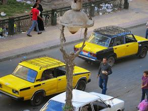 Photo: los taxis de alejandría. todos el mismo modelo.