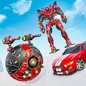 Red Ball Robot Games: Robot car Transform icon