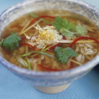 Thai Vegetarian Rice Soup.