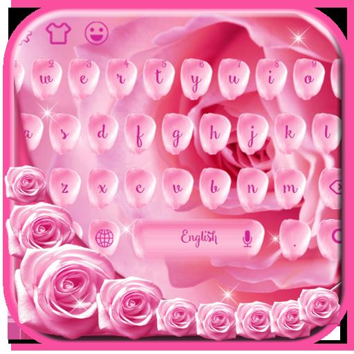 Pink petal typewriter