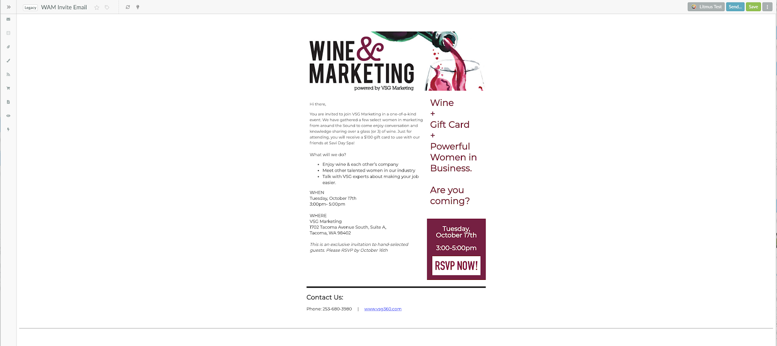 email automation wine and marketing