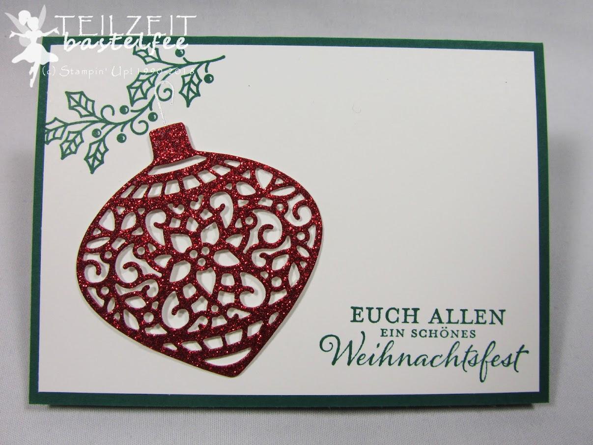 Stampin' Up! - Inkspire_me, Christmas Baubles, Weihnachten, Weihnachtsschmuck, Kling Glöckchen, Weihnachtskarte,
