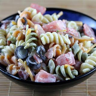 Ranch Pasta Cold Salad.