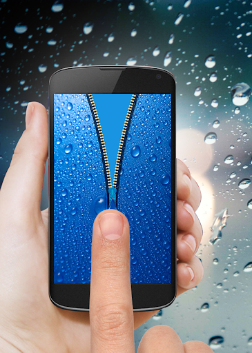 Water Drop Zipper Screen Lock
