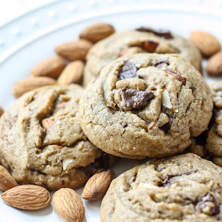 Salted Dark Chocolate & Almond Cookies