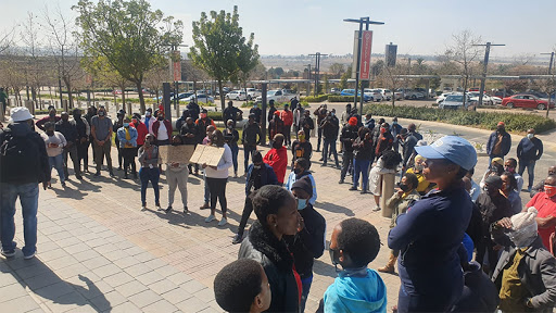 Today, a group of Cell C employees were demonstrating at its headquarters.
