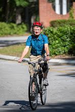 Photo: Roy won heaviest bike