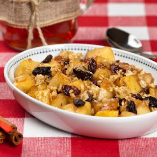 Holiday Crockpot Fruit Crisp