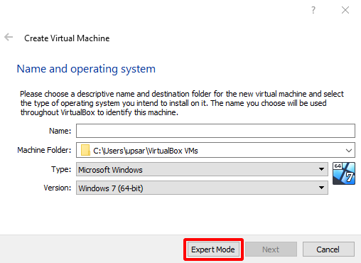 Virtual Hacking Lab - VirtualBox Create Virtual Machinex. Source: nudesystems.com