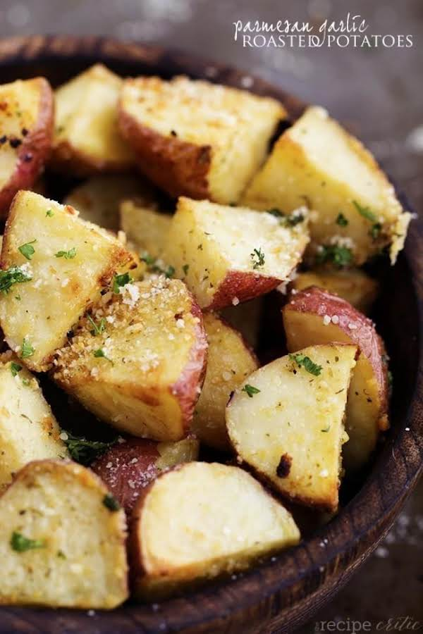 Parmesan Garlic Roasted Potatoes Recipe