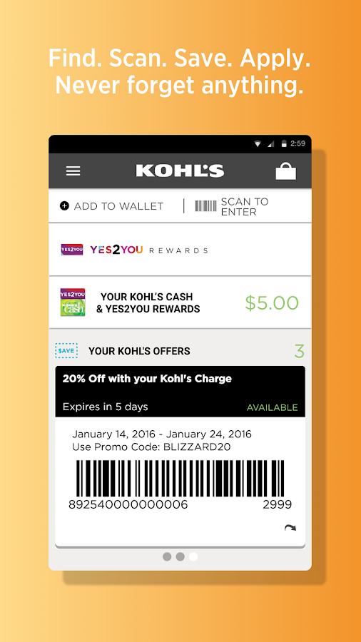 kohl 39 s scan shop pay save android apps on google play