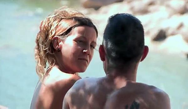 Dogging en la zona nudista con Araceli la MILF. ¿Me puedes dar crema por favor?