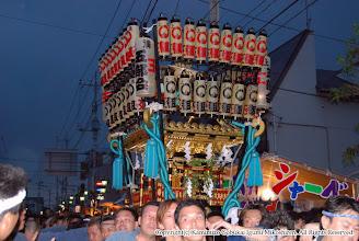Photo: 【平成19年(2007) 本宮】 提灯を取り付け上溝商店街を行く。