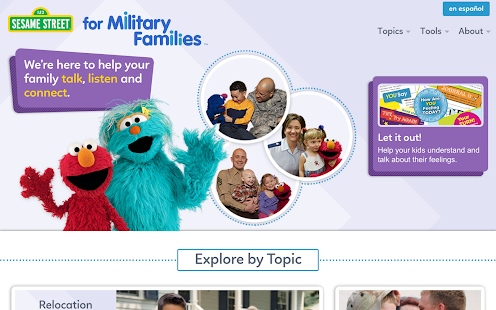 Sesame for Military Families- screenshot thumbnail