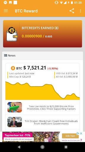 BTC Reward - Earn free Bitcoin screenshot 5
