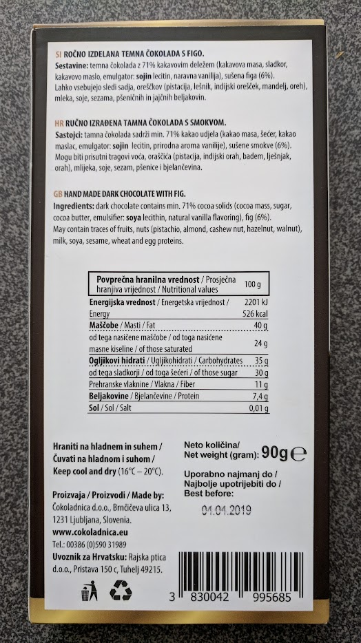 71% rajska ptica fig bar