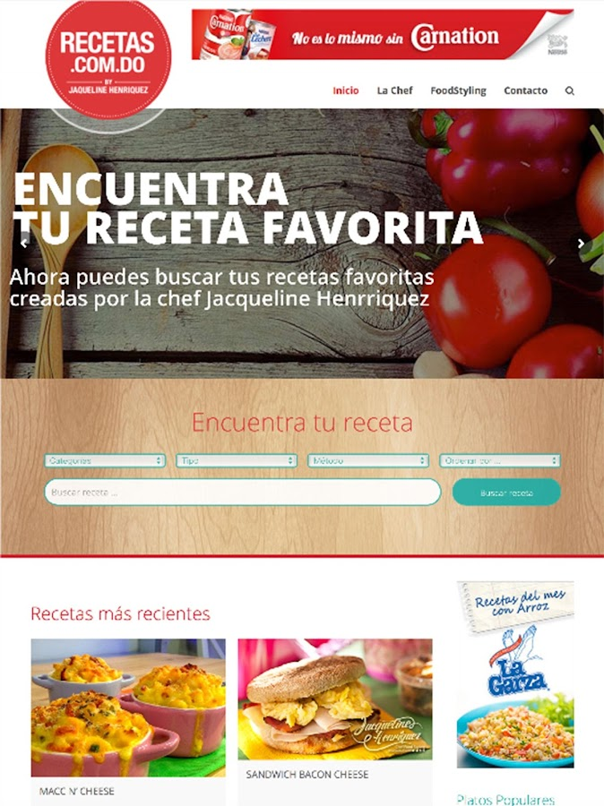 Recetas.com.do: captura de pantalla