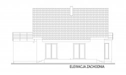 Domek Na Miodowej - Elewacja tylna