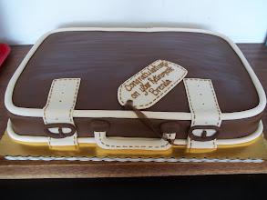 Photo: Bon Voyage!!  Suitcase cake