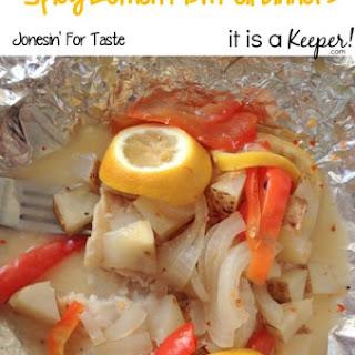 Spicy Lemon Fish Foil Dinners