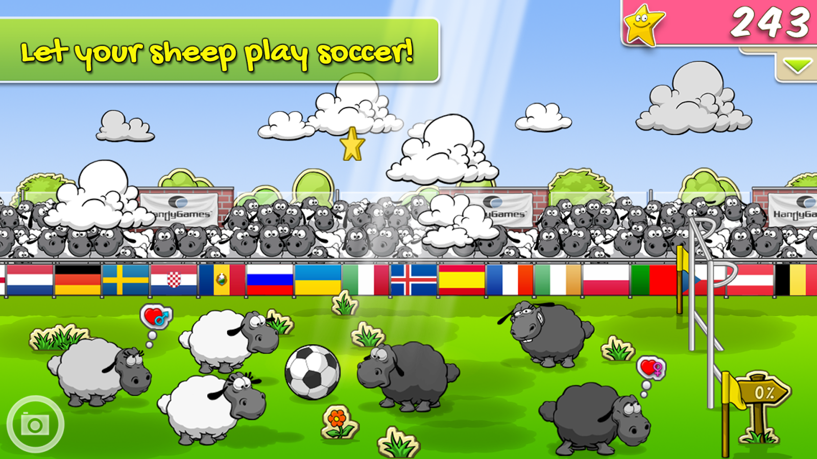 Screenshots of Clouds & Sheep for iPhone