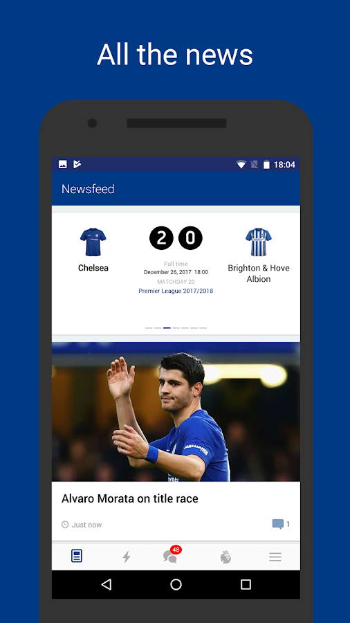 Chelsea Live – Goals & News for Chelsea FC Fans- screenshot