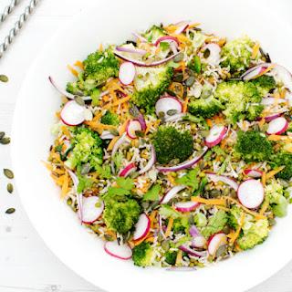 Broccoli Brown Rice Asian Salad [vegan]