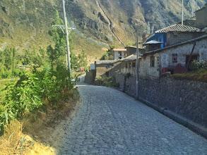 Photo: The road into Ollantaytambo