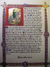 Photo: My first complete scroll, calligraphy, gold & paint. Thomas du Winterwade's QoC.