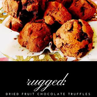 Dried Fruit Chocolate Truffles.
