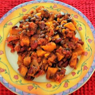 Slow Cooked Sweet Potato Chili