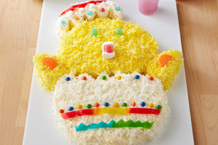 Photo: Baby Chick Cake by Kraft Foods. Find this recipe here: http://kraft.us/HMUJ6m