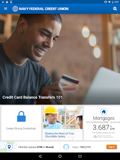 Navy Federal Credit Union Screenshot