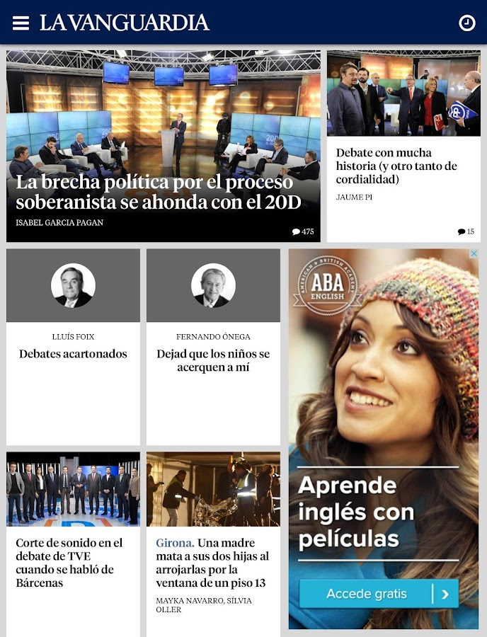 La Vanguardia- screenshot
