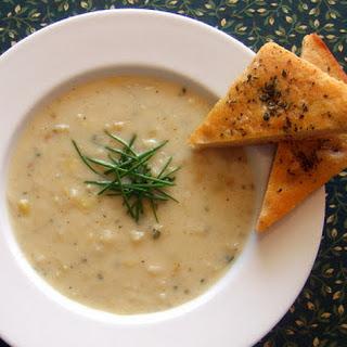 Potato-Leek Soup with Chives.
