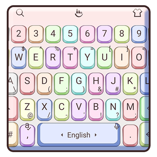 Simple Colorful Keyboard Theme