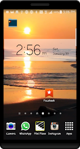 Ocean Sunset HD LWP screenshot 3