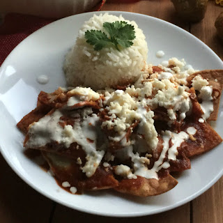 Leftover Turkey Chilaquiles with Red Sauce