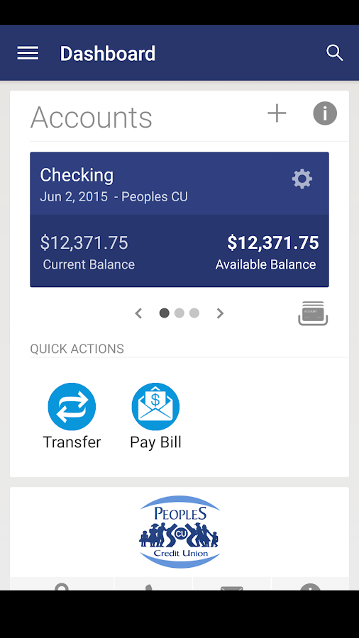 Peoples CU Mobile- screenshot