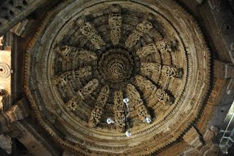 Photo: Jaisalmer - plafond du temple Djaïn