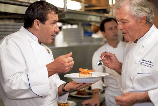 Oceania-chefs.jpg - The culinary team on Oceania Cruises is led by world-renowned chef Jacques Pepin.