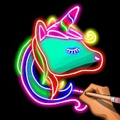 Learn To Draw Glow Animals: Draw & Color Book 2018 Android APK Download Free By Coloring By Number - Pixel Art Games : Next Tech