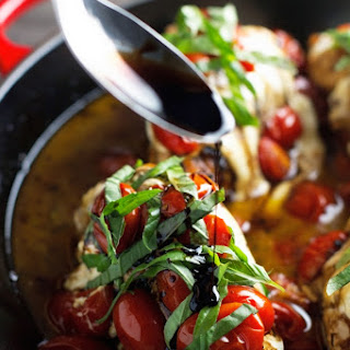 Baked Caprese Chicken with Balsamic Reduction