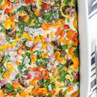 Egg White Vegetable Breakfast Casserole.