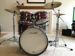 Photo: 1969 Ludwig Standard Ruby Strata