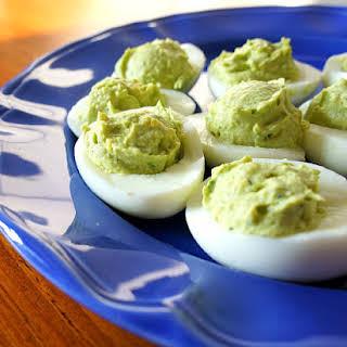 Recipe for Avocado Deviled Eggs (the best deviled eggs I've ever eaten).
