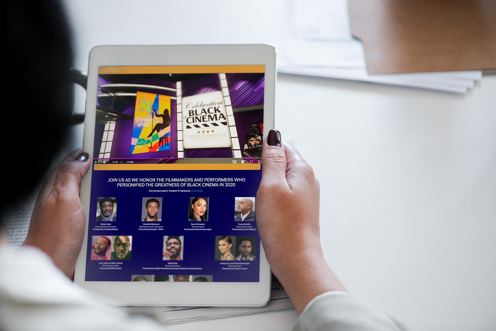 Virtual Venue on iPad, Celebration of Black Cinema