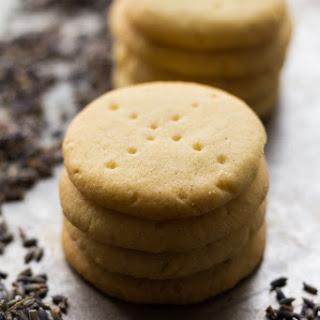 Vanilla Lavender Shortbread Cookies.