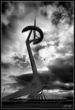 Photo: First Photowalk Barcelona.  This photo was taken yesterday in the Photowalk. It is the Tower Calatrava in Montjuic.  +Photowalks Barcelona #BCNphotowalk by +Alessandro Cerè  #monochromemonday curated by +Charles Lupica +Manuel Votta +Hans Berendsen +Jerry Johnson #plusphotoextract by +Jarek Klimek