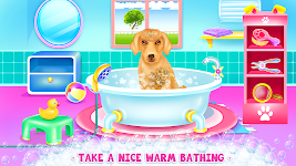 screenshot of Cute Lady Labrador Caring